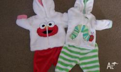 Two very cute 000 outfits, only worn once, one Elmo