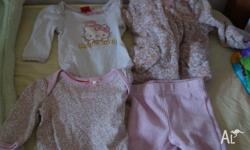 2 x Long Sleeve Bodysuits in Hello Kitty 1 x Hello
