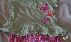 gorgeous top and pant set with headband. good used