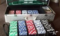 1000 Poker Chip Set Hold'em with 2 tiered Aluminium