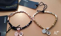 100% genuine Mimco memoir bracelets. From (L-R): *black