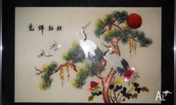 100% handmade Chinese silk embroidery artwork. A