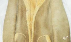 100% pure wool sheep skin jacket. All natural sheep