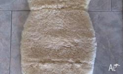100% Soft Australian Sheepskin Pram Liner with Cut Out