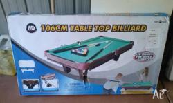 106cm Table Top Billiard game - new in damaged box.