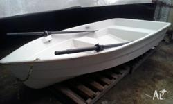 10 Foot fibreglass dinghy used as a tender , place for