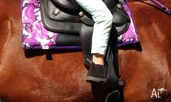 "My daughter has outgrown her 10"" Western Saddle. It's 3"