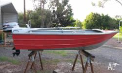For sale - 10' tinny with 4hp Mariner outboard. Extras