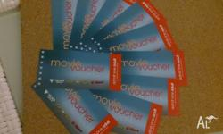 Up for sale in 10 x Movie/cinema tickets (adult)