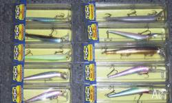 10 x ASSORTED STORM HARDBODY FISHING LURES THERE IS A