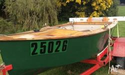 10ft wooden boat & trailer both full registration. Boat