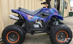 "FULL AUTO 4-STROKE KIDS QUAD. 7"" MUD TYRES, FULLY"