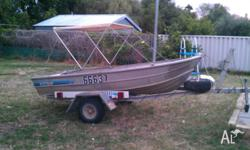 For Sale is my 11 foot Savage Tinny on trailer, Both