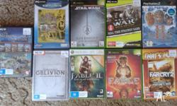 $80.00 for the lot or: 1. Men of War (PC) - $10 2. Age