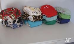 12 Monk n Bear MCN reusable nappies with bamboo liners