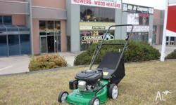 "16"" cut lawn mower with catcher. Powerful 4 stroke OHV"