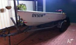 "12"" Quintrex, 9.9hp Mariner outboard (low hours). Both"