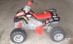 Kids ride on quad bike. 2 x 30 watt motors forward and