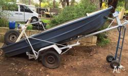 Good condition. Minus outboard. On trailer with winch.
