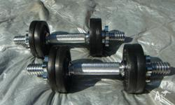 12kg Dumbbell set 6kg each, including 2kg handle, in