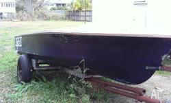 !3 ft boat on trailer, the boat needs some mainly