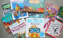 14 Boys Exciting books, Dinosaurs, Learn swim Mirrors,