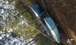 14 foot catamaran sailboat GREAT fun! single sail, with