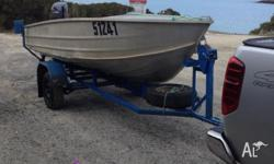 Brooker v14 tinny with 2012 Yamaha 30 hp outboard