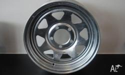 "14"" GALVANISED WHEEL, Box Trailer, 14"" Ford Galvanised"