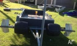 14 foot hobie cat,both hulls good condition, trailer