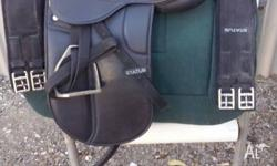 "14"" english saddle harly any use comes with 2x 60cm"