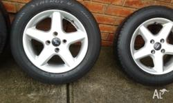 "14"" wheels, rims with 185/65/R14 ROADWORTHY tyres and 4"