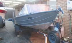 14ft (4.2m) Aluminium tinnie for sale. Great boat that