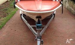 14ft Fishing boat with trailer and 40HP Motor  for Sale in