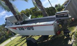 14ft boat 25hp Johnson with good compression Sounder