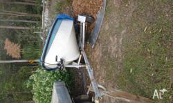 14ft fibre class dinghy with galvanized trailer, 2.2