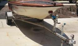 Up for sale is one 14ft fibreglass boat and trailer.