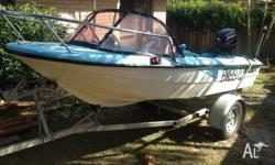 Up for sale is my fibreglass fishing boat. Its a sound