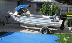14 ft Savage Gannet runnabout with reliable 18hp