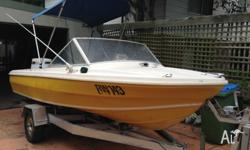 15 ft ~ 4.5m CARIBBEAN Fiberglass Boat 125 HP JOHNSON