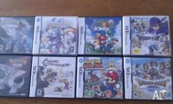 I have 15 DS games for sale. They all work perfectly
