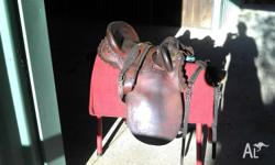 "15"" Sydhill Stock Saddle custom made wide gullet comes"