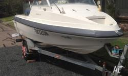 For sale is a 15ft Monark- Starcraft fibreglass boat,