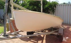 Naturally finished Fibreglass Sailboat, 15ft. The boat