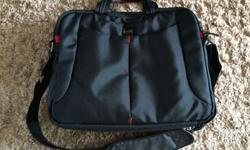 17 inch laptop bag. As new. Has 2 front pockets, 3