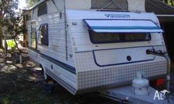 1994 Viscount Pop Top Caravan 17' with Island Bed