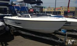 17' Steber Craft Boat on Booker Trailer with 90hp