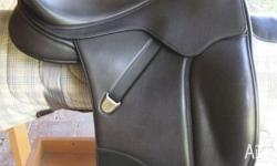 This Isabell saddle is a beautiful black leather. It