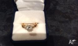 Selling engagement ring. It is 1 18 carat gold diamond