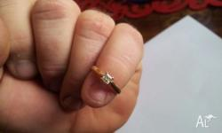 Well Looked after 18 Ct Princess Cut Diamond engagement